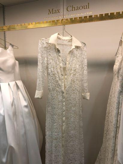 1 robe de mariée en dentelle