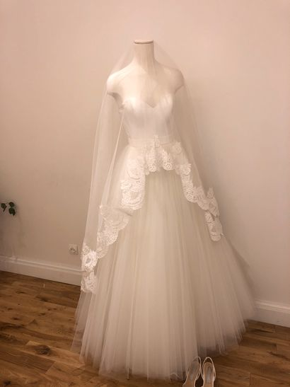 1 robe de mariée tulle voile
