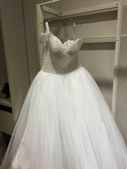 1 robe de mariée bustier strass