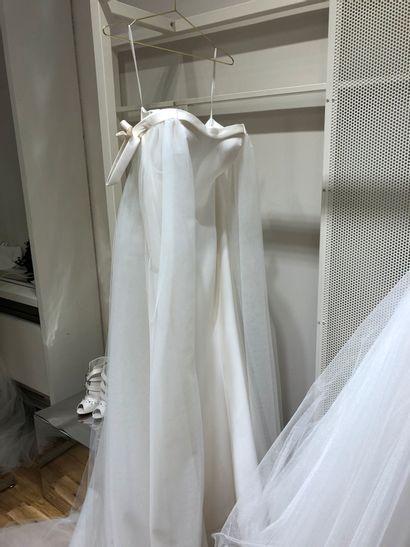 1 robe de mariée bustier tulle T40