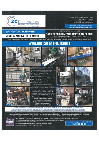 LJ ETABLISSEMENTS BERNARD ET FILS 12 BIS RUE DES MARGUERITES 69800 SAINT PRIEST (SELARL ALLIANCE MJ MAITRE MARIE DUBOIS)