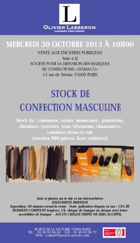 Suite à LJ SOCIETE POUR LA DIFFUSION DES MARQUES DE CONFECTIONS « SULMACO »