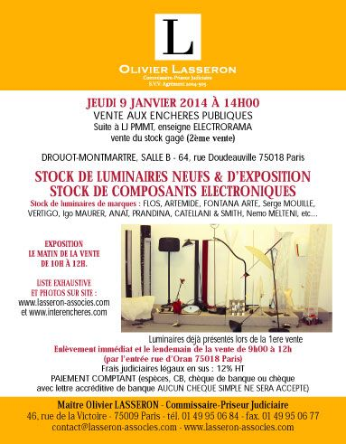 Suite LJ PMMT, enseigne ELECTRORAMA (2nd vente)