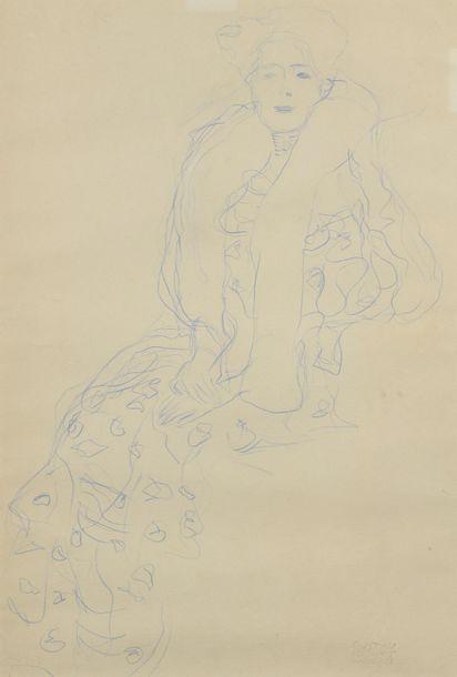 Le portrait au crayon de Fritza Riedler, chef-d'œuvre de la période dorée de Gustav Klimt