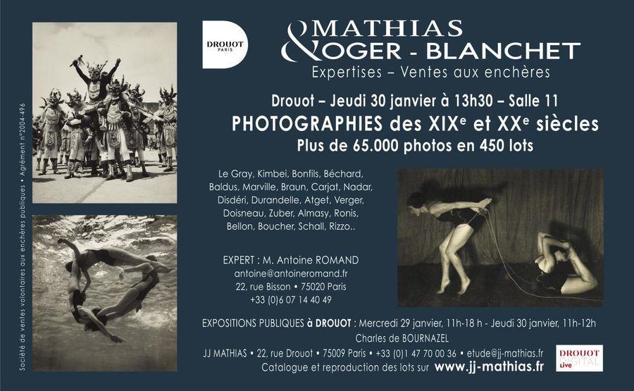 Vente de photographies du XIXe et XXe Siècle