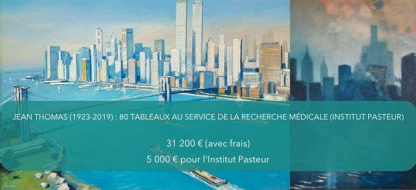 80 tableaux de Jean THOMAS (1923-2019) pour soutenir la recherche médicale (Institut Pasteur)