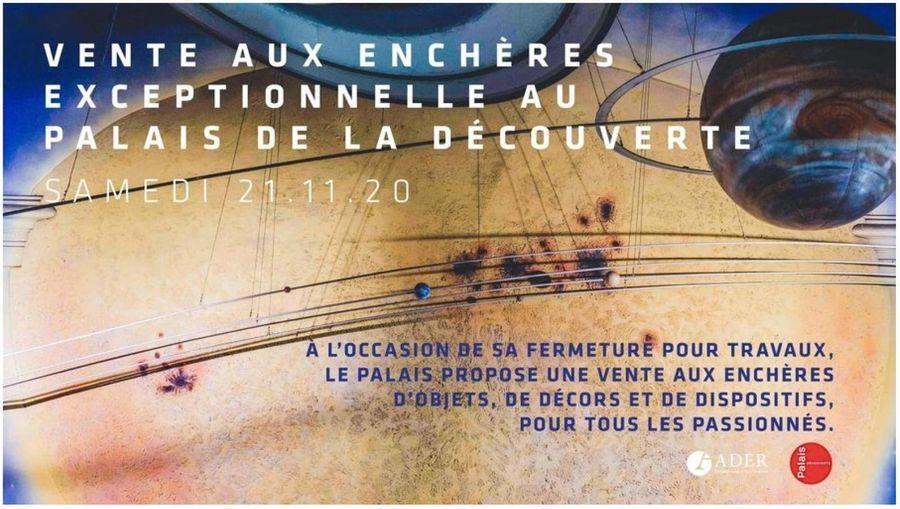 Vidéo BFM Paris sur la vente pour le Palais de la découverte
