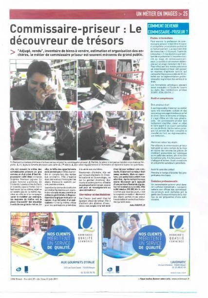 PARU DANS CÔTE ROUEN N°20 DU 15 AU 20 JUIN 2011