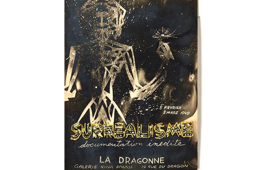 Rare affiche originale de Jacques Hérold - Surréalisme