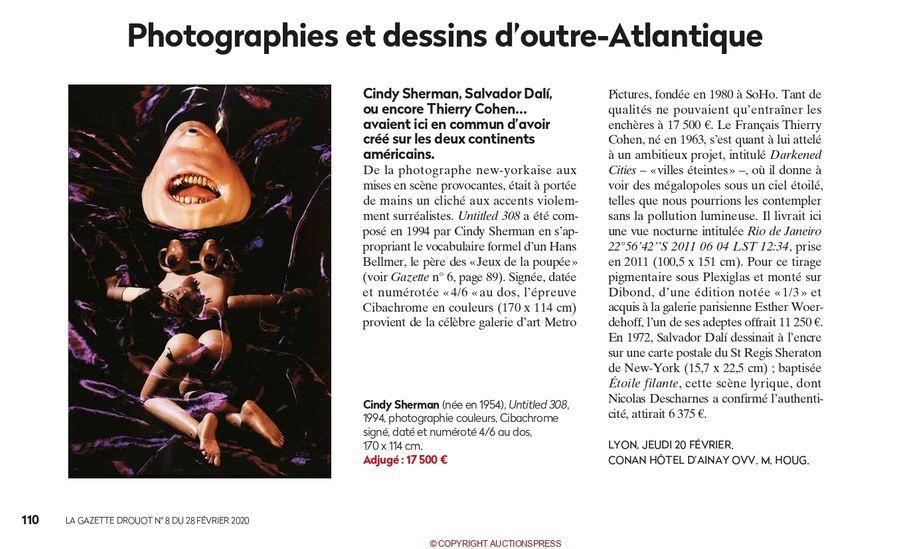 Photographies et dessins d'outre Atlantique