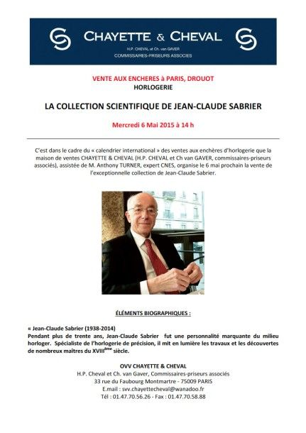 LA COLLECTION SCIENTIFIQUE DE JEAN-CLAUDE SABRIER