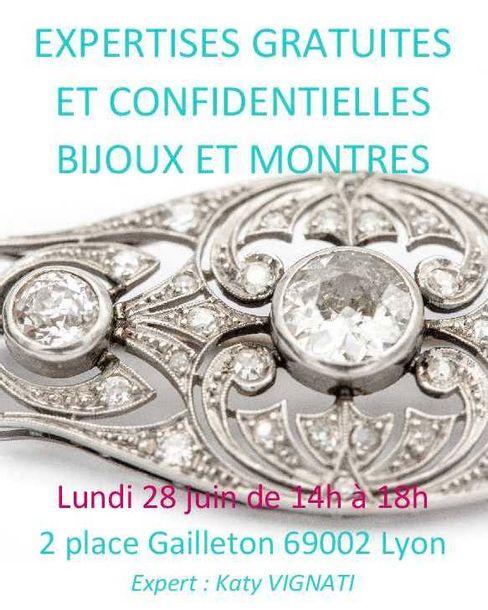 Expertise monnaies, bijoux et montres : 2 place Gailleton Lyon Lundi 28 juin