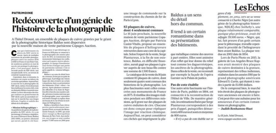 Copages Auction Paris dans la presse en 2017