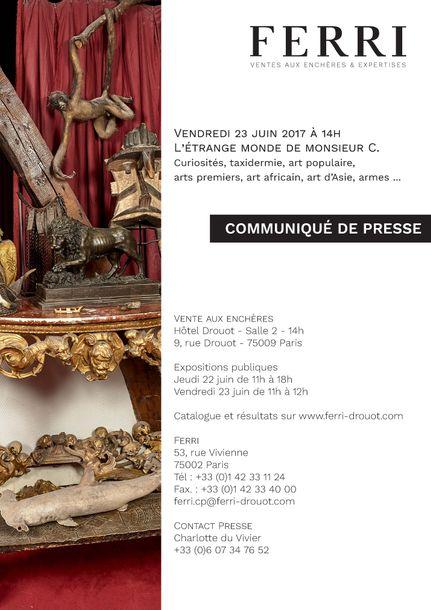 COMMUNIQUE DE PRESSE - L'ETRANGE MONDE DE M. C.