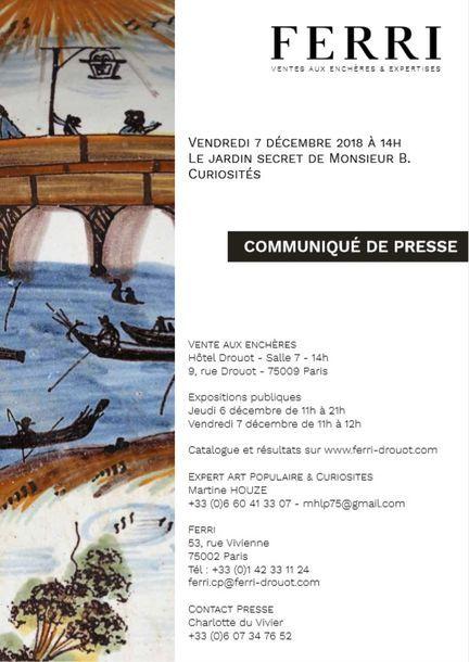 COMMUNIQUE DE PRESSE - LE JARDIN SECRET DE M. B.