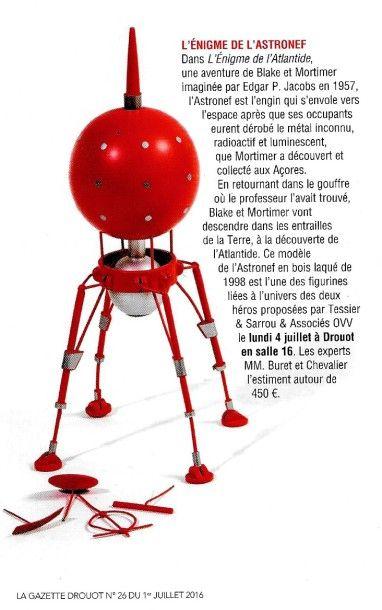L'énigme de l'astronef, la Gazette Drouot