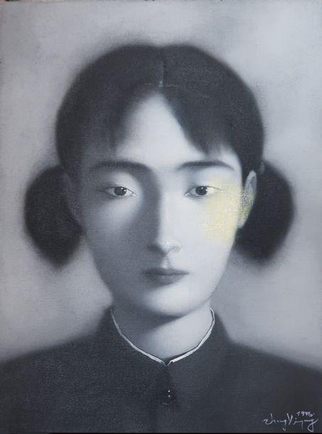 Le Portait d'une jeune femme de Zhang Xiaogang, expression de l'âme chinoise moderne