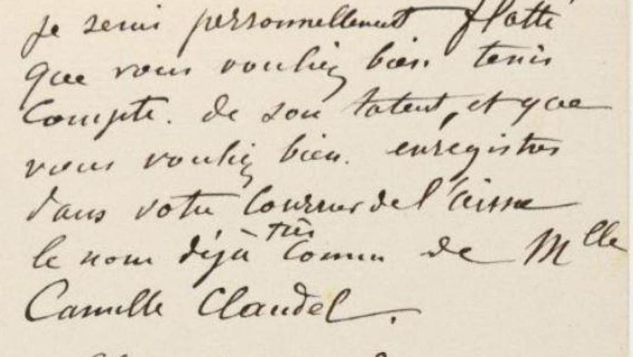 Rodin mentionne l'Aisne et Camille Claudel dans une lettre qui va être vendue aux enchères
