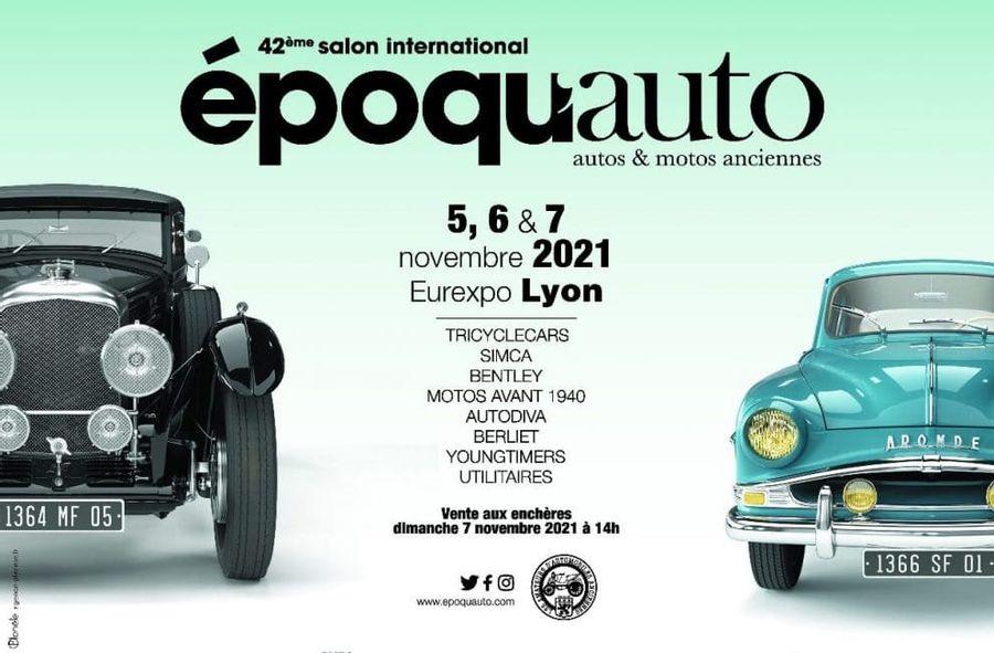 Epoqu'Auto 2021, le 42ème salon des véhicules historiques revient du 5 au 7 novembre !