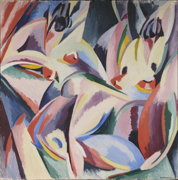 Alberto MAGNELLI (1888-1971) - Explosion lyrique n°1