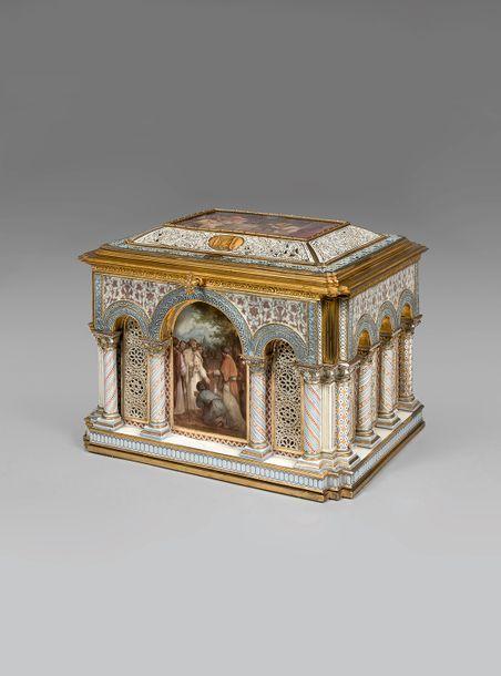 PRÉEMPTION DU MUSÉE DU LOUVRE POUR LE COFFRET «ROMAN» DE SÈVRES