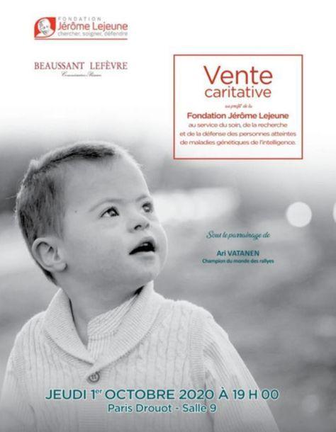 VENTE CARITATIVE AU PROFIT DE LA FONDATION JÉRÔME LEJEUNE