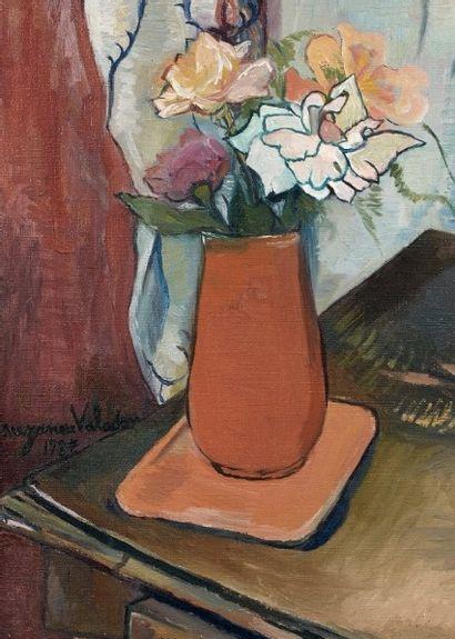 Les roses au vase orange de Suzanne VALADON adjugé à 22 500 €