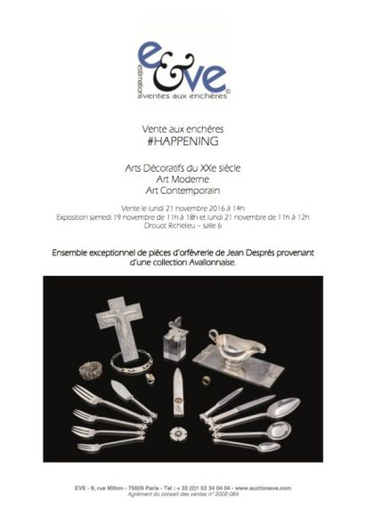 Vente aux enchères #HAPPENING - Arts Décoratifs du XXe siècle Art Moderne Art Contemporain
