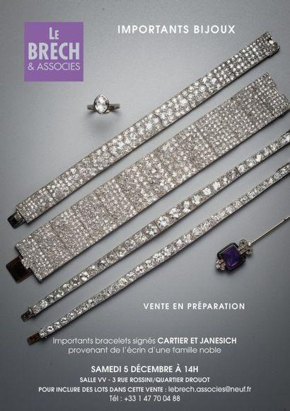 Importants bracelets signés CARTIER ET JANESICH