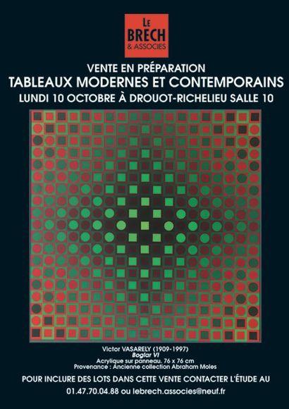 VENTE TABLEAUX MODERNES ET CONTEMPORAINS EN PREPARATION