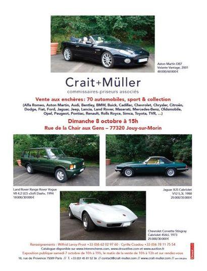 Dimanche 8 octobre : Automobiles sportives & de collection