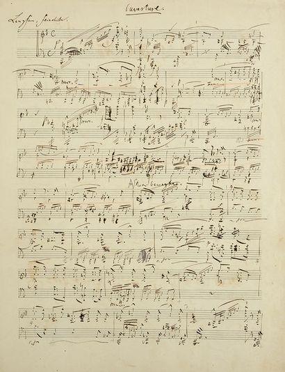 MANUSCRIT MUSICAL AUTOGRAPHE DE ROBERT SCHUMANN