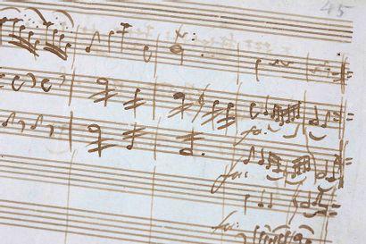 MANUSCRIT MUSICAL AUTOGRAPHE DE WOLFGANG AMADEUS MOZART