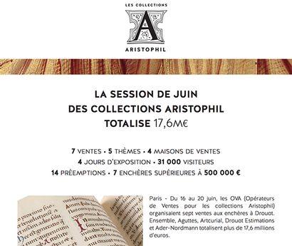 LA SESSION DE JUIN DES COLLECTIONS ARISTOPHIL TOTALISE 17,6M€