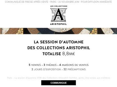 LA SESSION DE NOVEMBRE DES COLLECTIONS ARISTOPHIL TOTALISE 8,8M€