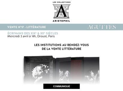 LES INSTITUTIONS AU RENDEZ-VOUS DE LA VENTE LITTÉRATURE