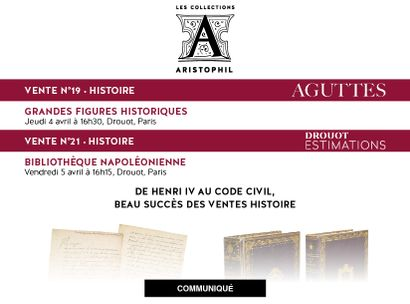DE HENRI IV AU CODE CIVIL, BEAU SUCCÈS DES VENTES HISTOIRE