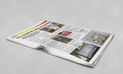 Reportage sur l'Étude dans le journal d'information local beaunois