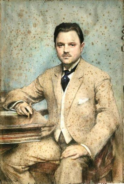 Pascal Adolphe Jean Dagnan, dit Dagnan-Bouveret (1852-1929). Portrait d'un gentleman.