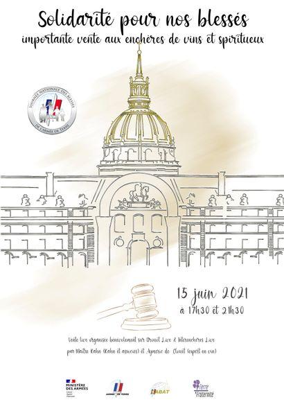 Importante Vente Aux Enchères De Vin Et Spiritueux, le 15 juin 2021 à 17h30 et 21h30