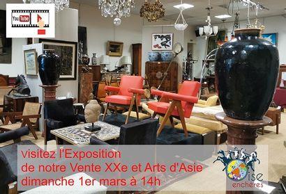 L'EXPOSITION DE NOTRE VENTE XXe et ARTS d'ASIE COMMENCE AUJOURD'HUI, BIENVENUE!