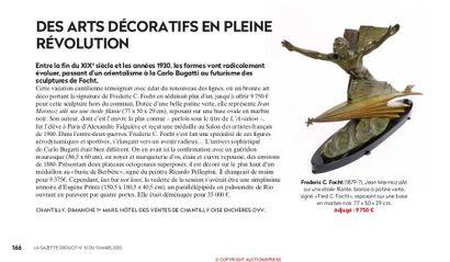 DES ARTS DÉCORATIFS EN PLEINE RÉVOLUTION, Article de la Gazette Drouot n°10 du 13 mars 2020, p.166
