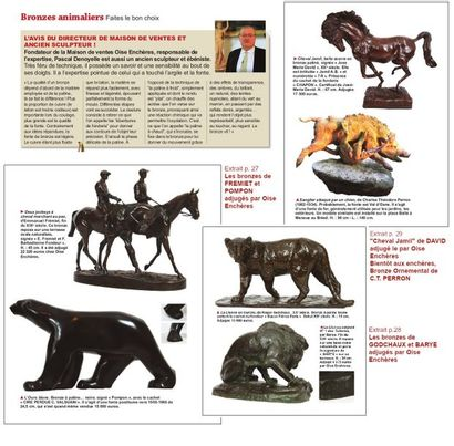 BRONZES ANIMALIERS, L'AVIS de PASCAL DENOYELLE, FONDATEUR de OISE ENCHERES et RESPONSABLE de l'EXPERTISE