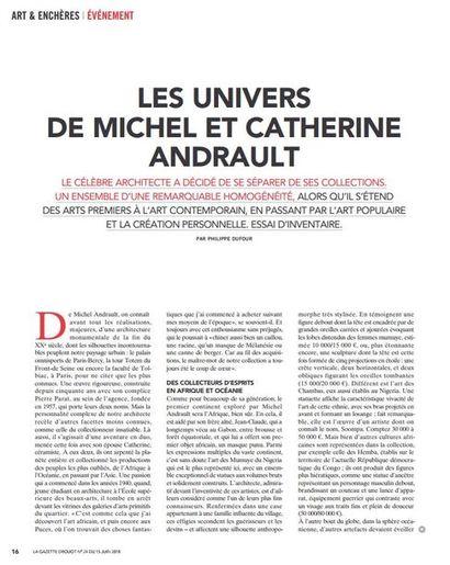 Michel Andrault à l'honneur dans la Gazette Drouot