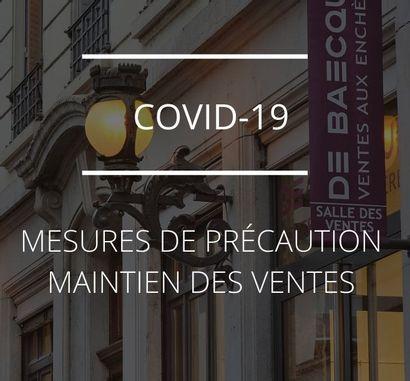 COVID 19 - MESURES ET MAINTIEN DU CALENDRIER DE VENTES
