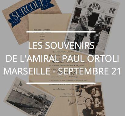 Les souvenirs, ordres, décorations et diplômes de l'Amiral Paul Ortoli