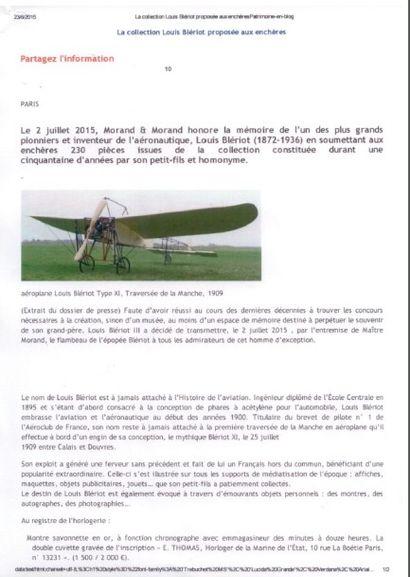 La collection Louis Blériot proposée aux enchères