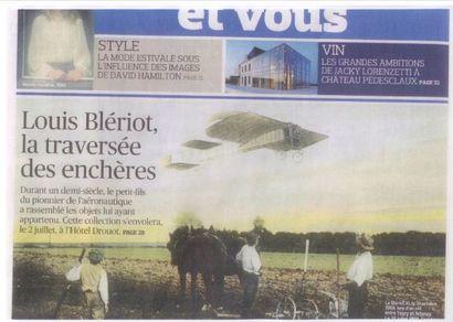 Louis Blériot, la traversée des enchères