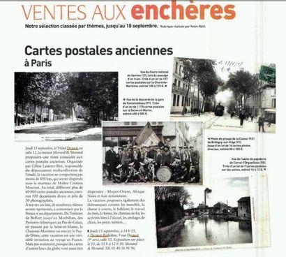 On parle de nous ! Article dans Collectioneur Chineur / vente cartes postales 15 septembre 2016 Drouot