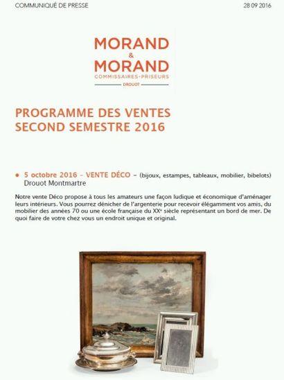 COMMUNIQUÉ DE PRESSE - Ventes second semestre 2016